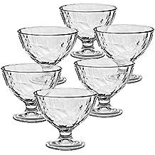 6 x Eiscremeglas, Eisbecher, Eisschale ~DIAMOND-1~ transparent, 360ml, Glas (GELATO VERO powered by CRISTALICA)