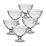 6 x Eisschale Set Dessertschale Eisbecher Glas Diamond 1 transparent 360ml Gelato Vero