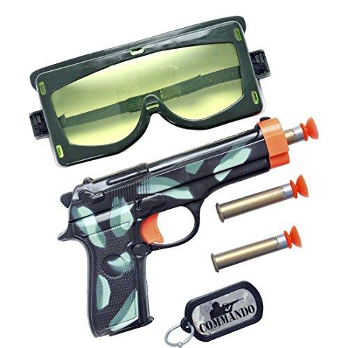 (Spielzeug Pistolen Set Soldat Soldaten Set Militär Ausrüstung Saugnapf Pistole Army Kostüm Zubehör)