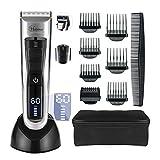 Hair Clipper Professional Cordless Clippers Hair Trimmer Beard Shaver Electric Haircut Kit Ceramic