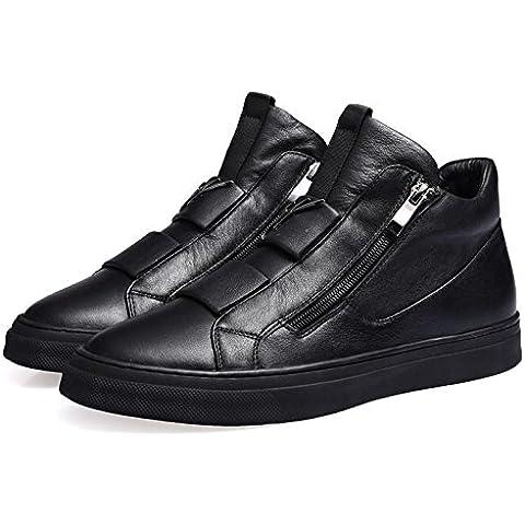 Uomini cerniera in pelle scarpe Hi-per l