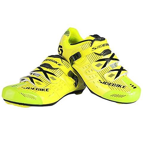Fastar Men's Professional Breathable Road Race Cycling Shoes Road Biking Shoes Mountain Bike Running Shoes(UK