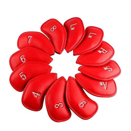 TourGolf 12pcs Rouge épais Cuir synthétique de golf...