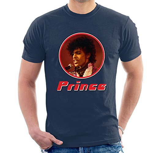 Prince Retro Photo Frame Men's T-Shirt Navy Blue