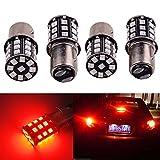 SMKJ 4x Rot 1157 2835 33 SMD 1016 1034 7528 2057 2357 12V LED Ersatz Lampe Licht für Auto Glühbirnen Lampe Innen RV Camper Bremse Drehen Licht Rücklicht