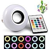 GEREE Bluetooth Musica Lampadina, 6W E27 LED Leggero 100-240V Musica Giocando RGB Modificare Leggero con 24keys A distanza Controllo senza fili Stereo Audio altoparlante