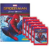 Panini - Spider-Man: Homecoming - Sammelset Album + 5 Booster Tütchen - 25 Sticker deutsche Ausgabe