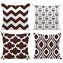 HuifengS New Living Series Funda de cojín para sofá, cama o sofá, diseño geométrico