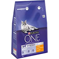 Purina ONE Adult Rich in Chicken and Whole Grains, 3 kg - Pack of 4