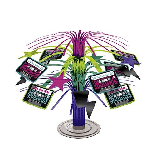 NET TOYS Décoration Anniversaire Déco Centre de Table Cascade Birthday Party Décor Fête Années 80 Thème Soirée 90s Cassette