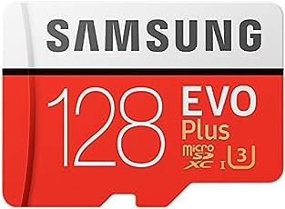 Samsung EVO Plus Micro SDXC 128GB bis zu 100MB/s, Class 10 U3 Speicherkarte (inkl. SD Adapter) [Amazon Frustfreie Verpackung]