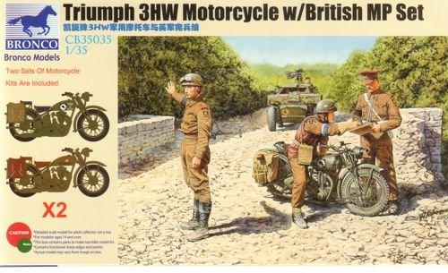 Unbekannt Bronco Models cb35035-Figuras Triumph 3hw Motocycle MP Figure Set