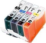 Metro Market 4 Stücke Kompatible Patronen Ersatz für Canon CLI-8 Tintenpatronen Hohe Kapazität für Canon PIXMA iP3300 iP3500 iP4200 iP4300 iP4500 PIXMA iX4000 iX5000 MP500 MP510