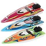 Fogun Spielzeug Neuheit Wind-Up Chattering Schlauchboot Schiff für große Badespaß für Kinder, Farbe Zufällige