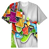 Snoogg Colorful Pattern Design Mens Casual All Over Printed T Shirts Tees