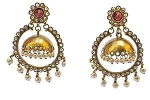 Gold Hoop Jhumkas