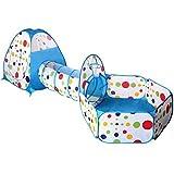 green living-6 3 in 1 Faltbare Kinder Kleinkind Pop-Up-Spielzelt für Kinder Innen-und Outdoor-Spielhaus Kinder Spielen Gaming Spielzeug (Blau)