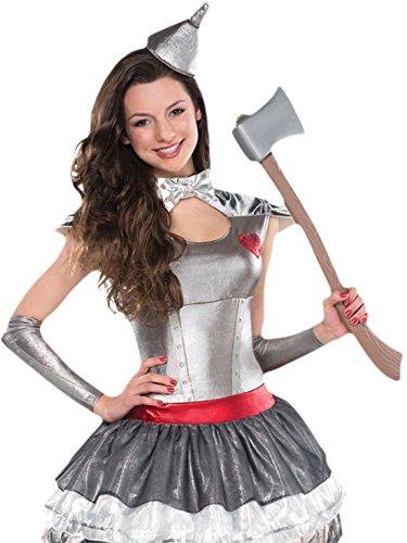 Fancy Ole - Mädchen Girl Karneval Kostüm Tin Hearthrob , Silber, Größe 152-164, 12-14 (Damen Kostüm Man Tin)