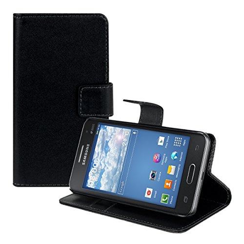 kwmobile Samsung Galaxy Core II Duos Custodia Portafoglio - Cover a Libro in Simil Pelle - Flip Case con Porta Carte per Samsung Galaxy Core II Duos