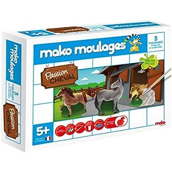 Mako - 39008 - Moulages - Passion Cheval ! 3 Moules - Kit De Loisirs Créatifs