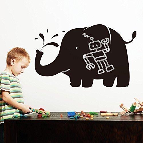 WALPLUS Pegatinas de Elefantes enormes para pizarras, decoración para el hogar, 92...