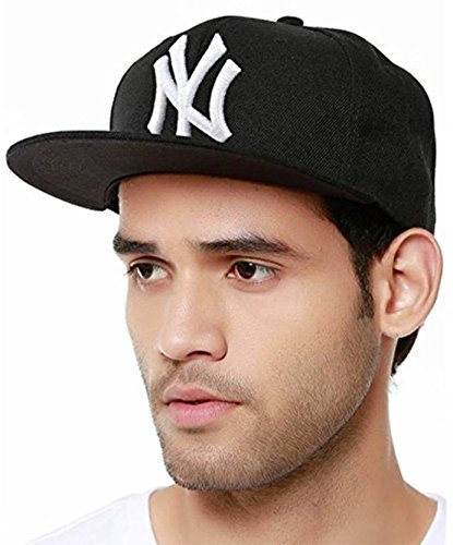 FAS Black Snapback Cap, Stylish Cap, Hip Hop Cap for Men  available at amazon for Rs.225