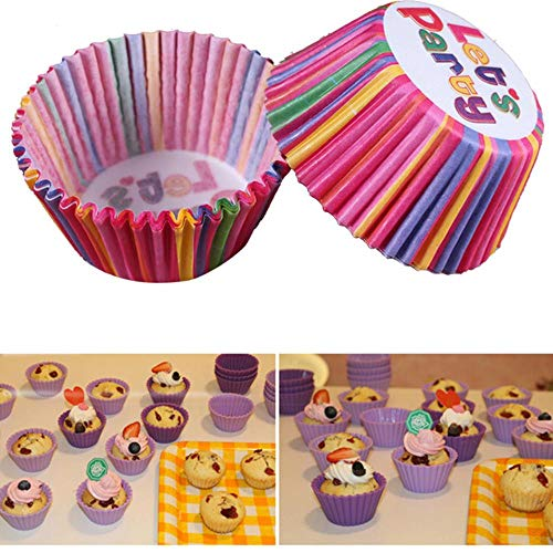 KXCLL 100 teile/los Muffin Pappbecher Box Kuchenverpackungen Backförmchen Fällen Muffins Kuchen Paket Küche Kuchen Dekorieren DIY Tools, 9 (Folie Herz-backförmchen)