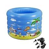 ying Portable faltbare kreisförmige aufblasbare Pool für Kinder große Space Planschbecken Baby Sea Ball Pool (mit elektrischen Luftpumpe * 1) ( größe : 100*75cm )
