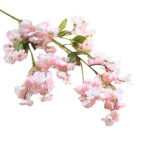 hte Kirschblüte Seidenblume Braut Hortensie Hausgarten Dekor Sakura Pflaumenblüte Simulation Blumen gefälschte Blumen Peach Blossom, Ewige Blüte Seide Hochzeit Deko Wohnzimmer ()