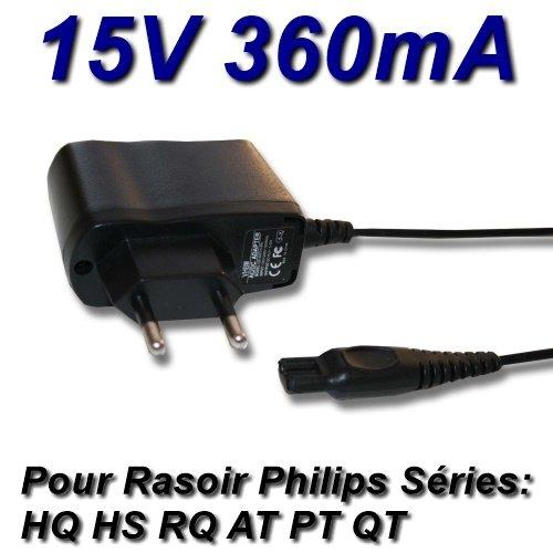 Top Caricatore® Adattatore Alimentazione caricatore 15V per rasoio Philips HQ8Series–HQ8140HQ8160