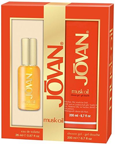 Jovan Musk Oil EDT 26 ml plus Shower Gel 200 ml, 1er Pack (1 x 1 Stück) - Jovan Musk Set