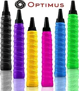 Optimus® Onex Pack of 3 Multipurpose Overgrip Tape Racket Grip Tape(PU)-for Badminton/Tennis/Squash/TT Racquets, Baseball Bats, Bicycle Handlebars, Fishing Rods, Walking Sticks Etc