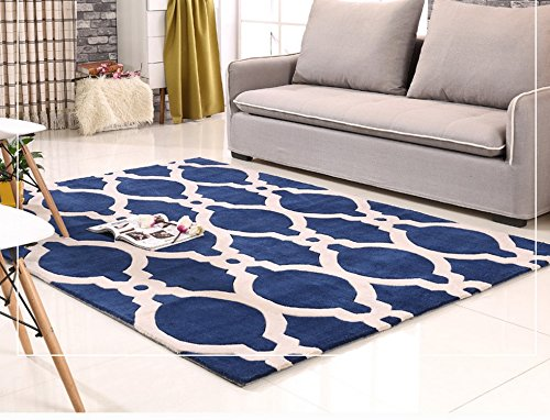 Semplice manuale di stile americano acrilico moquette blu e bianco salotto Tavolino Divano No-pulito tappeto acrilico Carpet ( dimensioni : 140x200cm )