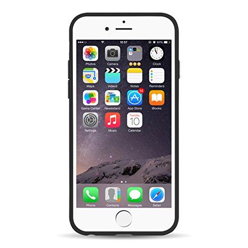 iPhone 7 Hülle, JAMMYLIZARD Hartes Schutz-Cover aus Polycarbonat [shockproof] mit Ring Halter [ultradünn] für iPhone 7, SCHWARZ SCHWARZ