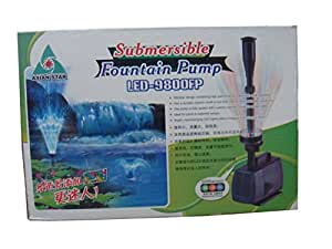 Submersible Fountain Pump - LED-9800FP - Ideal for Pond Waterfall Aquarium