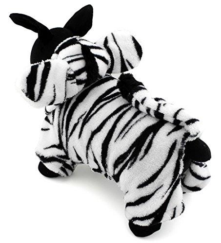 er Kleidung für Hunde Katzen Fleece Zebra Kostüm Kapuzen Jumpsuit Pyjama Weihnachten Fancy Coat Kleid (Hund In Einem Hot-dog-kostüm)