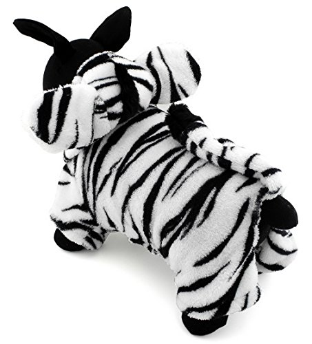 er Kleidung für Hunde Katzen Fleece Zebra Kostüm Kapuzen Jumpsuit Pyjama Weihnachten Fancy Coat Kleid (Grease Kostüm Ideen)