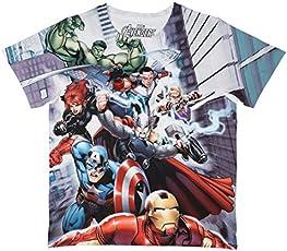 Marvel Avengers Multicolour Polyester T-Shirt for Boys DMA0007