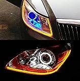 USUN Tubos flexibles para faros de luz diurna, tipo ojos de ángel, luces decorativas, 60 cm, 2...