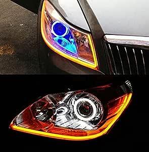 Usun 2pcs 60cm Flexibel Weich Tube Scheinwerfer Switchback Streifen Schlauch Art Engels Augen Drl Dekoratives Licht Tagfahrlicht Blinker Auto