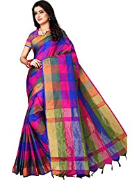 Om Sai Latest Creation Women's Art-Silk Saree With Blouse Piece Material