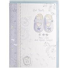 Taufe Taufe Luxury Card Boy Girl candle Golden Farbe Kreuz /& Steine wei/ß Band Satin Umschlag Taufe Geschenk