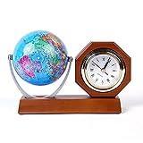 DE-BLUS Uhren/Classic Retro Bedside Holz Mechanische Uhr/Installieren Einer Globus-Akku-Power Moderne Mute-Büro-Schreib