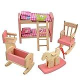 YouN Holzpuppe für Badezimmer, Puppenhaus, Miniatur für Kinder, Spielspielzeug, Pull-down Bunk Bed, 200.00 * 160.00 * 60.00mm