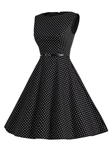 Bbonlinedress modèle 2 Vintage rétro 1950's Audrey Hepburn robe de soirée cocktail année 50 Rockabilly Blue Brown Flower
