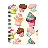 Mobicture Cute Cupcakes Wire Bound Spiral Notebook By Paper Plane Design Designer Covers Combined With Unruled Sheets Inside