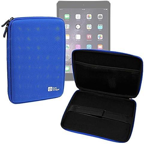 DURAGADGET Funda Rígida Azul Para Apple iPad Air 2 ( Wi-Fi, Wi-Fi + Cellular ) - Con Cremalleras De Alta Resistencia Y Bolsillo Interno