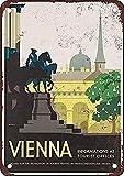 WallAdorn Wien Österreich Vintage Look Eisen Poster