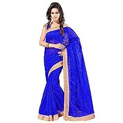 Aruna Sarees Brasso Saree (Gb-788_Royal Blue)