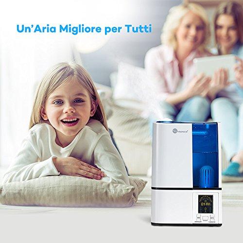 Taotronics umidificatore e vaporizzatore a freddo da casa ad ultrasuoni modalit di umidit - Aria secca in casa ...